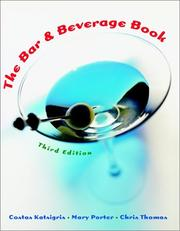 Cover of: The bar and beverage book by Costas Katsigris