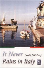 Cover of: It Never Rains in Italy | David Critchley