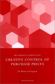 Cover of: Creative Control of Purchase Prices by Brian Farrington