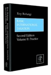 Cover of: Basic International Taxation by Roy Rohatgi