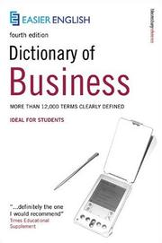 Cover of: Easier English Dictionary of Business (Easier English) by Peter Collin