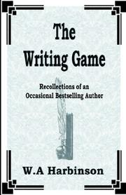 Cover of: The Writing Game | W. A. Harbinson