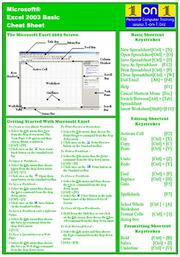 Cover of: Microsoft Excel 2003 Basic Cheat Sheet | Chris Le Roy