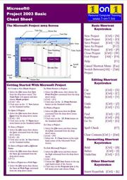 Cover of: Microsoft Project 2003 Basic Cheat Sheet | Chris Le Roy