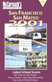 Cover of: San Francisco & San Mateo County 2001 (McCormack's Guides San Francisco/San Mateo/Marin/Sonoma) | Don McCormack