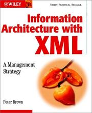Cover of: Information Architecture with XML by Peter Brown