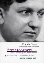 Cover of: Streetcorners: Prose Poems of the Demi-Monde | Carco, Francis