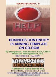 Cover of: Business Continuity Planning Template | Douglas M. Henderson