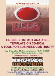 Cover of: Business Impact Analysis Template | Douglas M. Henderson