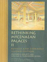 Cover of: Rethinking Mycenaean palaces II | Michael L. Galaty, William A. Parkinson