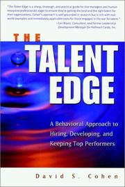 Cover of: The talent edge | David S. Cohen