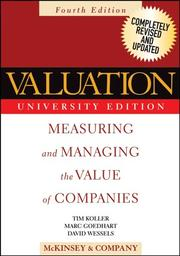 Cover of: Valuation | McKinsey and Company., Tim Koller, Marc Goedhart, David Wessels
