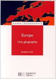 Cover of: Europe by Jacques Lévy