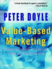 Cover of: Value-based marketing | Doyle, Peter