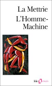 Cover of: L'homme machine | Julien Offray de La Mettrie