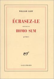 "Cover of: Ecrasez-le, précédé de ""Homo Sum"" 