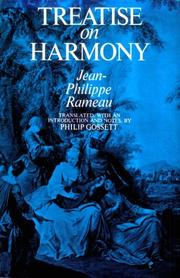 Cover of: Treatise on harmony | Jean Philippe Rameau