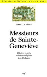 Cover of: Messieurs de Sainte-Geneviève by Isabelle Brian