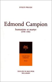 Cover of: Edmond Campion | Evelyn Waugh