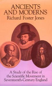 Cover of: Ancients and moderns by Richard Foster Jones