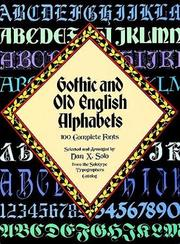 Cover of: Gothic and Old English Alphabets | Dan X. Solo