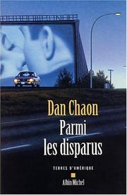 Cover of: Parmi les disparus | Dan Chaon