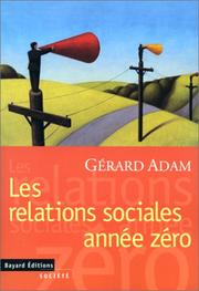 Cover of: Relations sociales | Adam