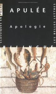 Cover of: Apologie/cp45 by Apulee