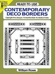 Cover of: Ready-to-Use Contemporary Deco Borders (Clip-Art Series) | William Rowe