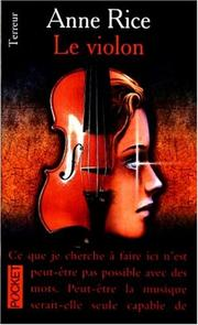 Cover of: Le violon by Anne Rice