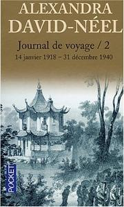 Cover of: Journal de voyage, tome 2 | Alexandra David-Néel