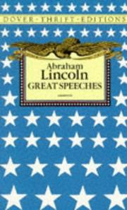 Cover of: Great speeches | Abraham Lincoln
