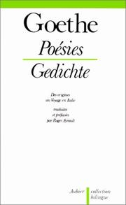 Cover of: Poésies, tome 1 | Johann Wolfgang von Goethe