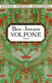 Cover of: Volpone by Ben Jonson