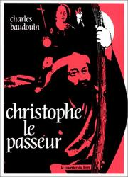 Cover of: Christophe le passeur | Charles Baudouin