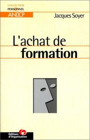 Cover of: L'achat de formation | Soyer