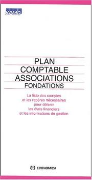 Cover of: Plan comptable associations, fondations | KPMG