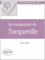 Cover of: Tocqueville | Amiel