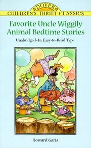 Cover of: Favorite Uncle Wiggily animal bedtime stories | Howard Roger Garis