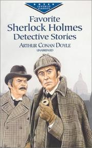 Cover of: Favorite Sherlock Holmes detective stories by Sir Arthur Conan Doyle