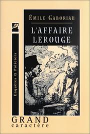Cover of: L'Affaire Lerouge by Emile Gaboriau