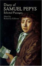 Cover of: Diary | Samuel Pepys