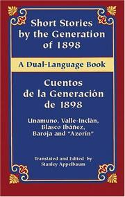 Cover of: Short Stories by the Generation of 1898/Cuentos de la Generacion de 1898 | Miguel de Unamuno