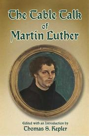 Cover of: Tischreden | Martin Luther