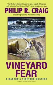 Cover of: Vineyard Fear by Philip R. Craig