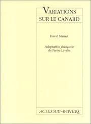 Cover of: Variations sur le canard | David Mamet