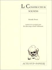Cover of: Le constructeur Solness | Henrik Ibsen