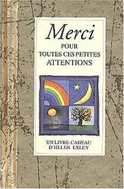 Cover of: Merci pour toutes ces petites choses by Helen Exley