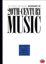 Cover of: The Thames and Hudson Encyclopaedia of 20th Century Music | Paul Griffiths