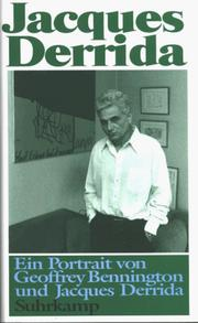 Cover of: Jacques Derrida. Ein Portrait | Geoffrey Bennington